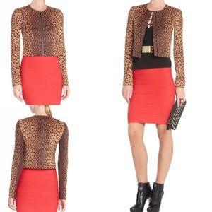 NWT BCBGMAXAZRIA Suvi Cheetah-Print jacket.